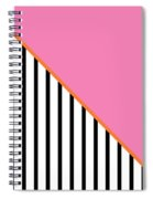 Pink And Orange And Black Geometric Spiral Notebook