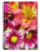Pink And Orange Spiral Notebook