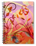 Pink And Purple Flower Medley Spiral Notebook