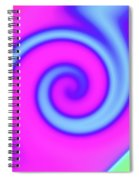 Pink And Turquoise Swirl Abstract Spiral Notebook