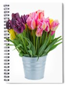 Pink And Violet  Tulips Spiral Notebook