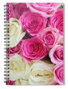 Pink And White Roses Bunch Spiral Notebook