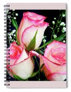 Pink And White Roses Spiral Notebook