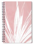 Pink And White Tropical Leaf- Art By Linda Woods Spiral Notebook
