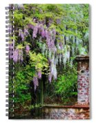 Pink And White Wisterias Spiral Notebook