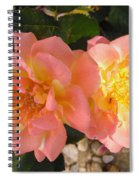 Pink And Yellow Roses Spiral Notebook
