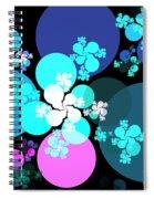 Pink Aqua Orbs Spiral Notebook