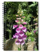 Pink Bell Flowers. Foxglove 03 Spiral Notebook