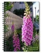 Pink Bell Flowers Spiral Notebook