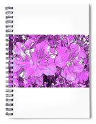 Pink Bevy Of Beauties On A Sunny Day In Violet Spiral Notebook
