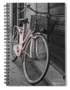 Pink Bicycle In Rome Spiral Notebook