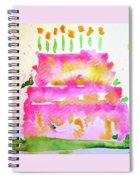 Pink Birthday Cake Spiral Notebook