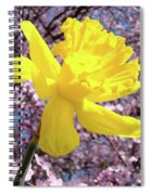 Pink Blossom Spring Trees Yellow Daffodil Flower Baslee Troutman Spiral Notebook