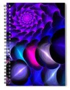 Pink Blue Bubbles Spiral Notebook
