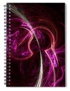 Pink Blume Spiral Notebook