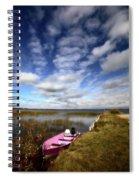 Pink Boat In Scenic Saskatchewan Spiral Notebook