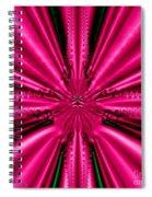 Pink Brocade Fabric Fractal 55 Spiral Notebook