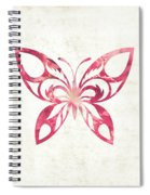 Pink Butterfly Spiral Notebook