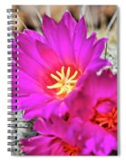 Pink Cacti Flowers Spiral Notebook