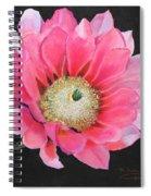 Pink Cactus Flower Spiral Notebook