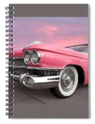 Pink Cadillac Sunset Spiral Notebook