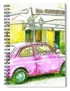 Pink Car Spiral Notebook