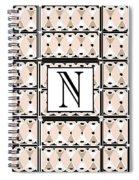 Pink Champagne Deco Monogram  N Spiral Notebook