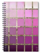Pink Color Chart Spiral Notebook