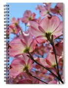 Pink Dogwood Flowers Landscape 11 Blue Sky Botanical Artwork Baslee Troutman Spiral Notebook