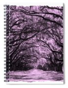 Pink Dream World With White Framing Spiral Notebook