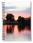 Pink Dusk Reflection Spiral Notebook