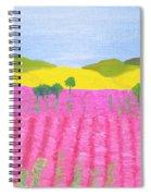 Pink Field Spiral Notebook