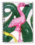 Pink Flamingo Spiral Notebook