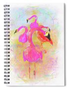 Pink Flamingos In The Park Spiral Notebook