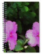 Pink Floral Watercolor Spiral Notebook