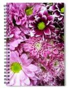 Pink Flower Carpet Spiral Notebook
