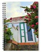 Pink Flower Explosion Spiral Notebook
