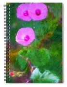Pink Flowers 102310 Spiral Notebook