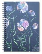Pink Flowers - 4 Spiral Notebook