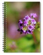 Pink Flowers . 40d4800 Spiral Notebook