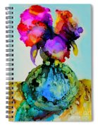 Pink Flowers In A Vase Spiral Notebook