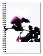 Pink Flowers In Empty Space Spiral Notebook