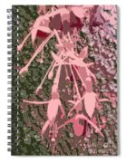 Pink Fuschia Against Tree Bark Spiral Notebook