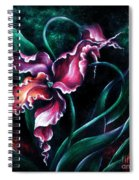 Pink Fuschia Orchid. Dance Of The Nature Spiral Notebook