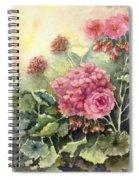 Pink Geranium's  Spiral Notebook