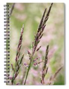 Pink Grass Spiral Notebook