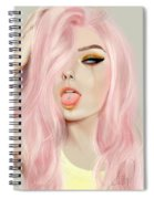 Pink Hair Spiral Notebook
