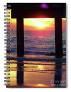 Pink Heart Sun Flare Clearwater Sunset Spiral Notebook