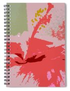 Pink Hibiscus Abstract Spiral Notebook