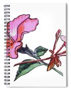 Pink Hibiscus And Geranium  Spiral Notebook